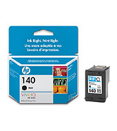 HP 140 Black Inkjet Print Cartridge with Vivera Ink