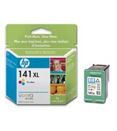 HP 141XL Tri-colour Inkjet Print Cartridge with Vivera Inks