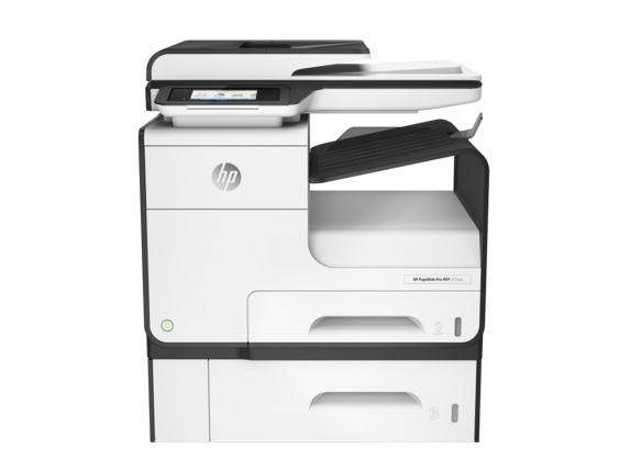 HP PageWide Pro 477dwt Multifunction Printer and Tray