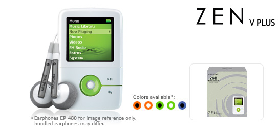 Creative ZEN V Plus MP3 Player - 2GB